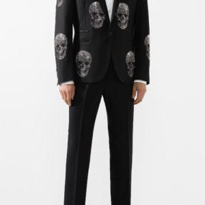 Мужской пиджак черный с принтом от PHILIPP PLEIN