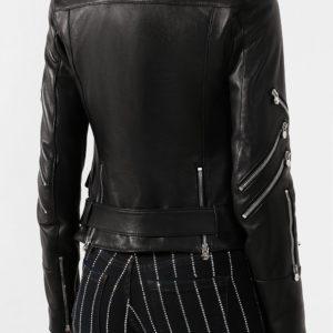 Женская куртка кожаная черная от PHILIPP PLEIN