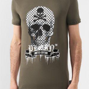 Мужская футболка хаки от PHILIPP PLEIN
