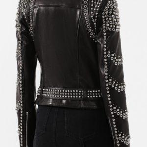 Женская кожаная куртка с заклепками от PHILIPP PLEIN