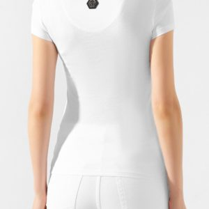 Женская хлопковая футболка белая от PHILIPP PLEIN