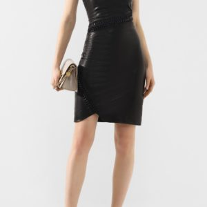 Женское кожаное платье от PHILIPP PLEIN