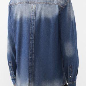 Мужская джинсовая рубашка синяя от PHILIPP PLEIN