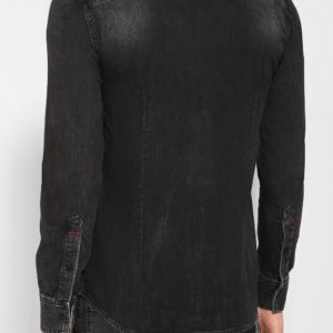 Мужская джинсовая рубашка черная от PHILIPP PLEIN