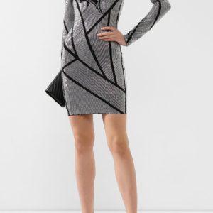 Женское платье из вискозы серое от PHILIPP PLEIN
