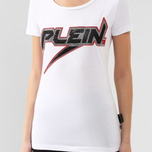 Женская хлопковая футболка с логотипом от PHILIPP PLEIN