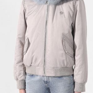 Женская куртка с меховой отделкой от PHILIPP PLEIN