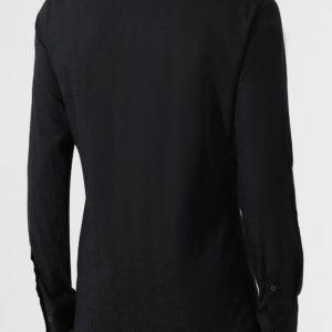 Мужская хлопковая рубашка черная от PHILIPP PLEIN
