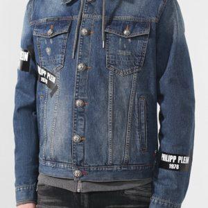 Мужская джинсовая куртка с капюшоном от PHILIPP PLEIN