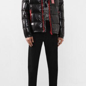 Мужская пуховая куртка черная от PHILIPP PLEIN