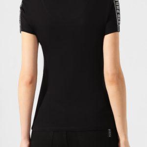 Женская хлопковая футболка однотонная от PHILIPP PLEIN