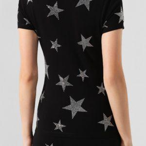 Женская хлопковая футболка со стразами от PHILIPP PLEIN